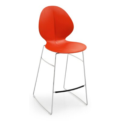 Basil 31.75 inch Bar Stool Upholstery: Red