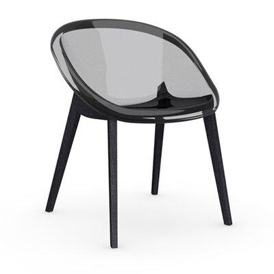 Bloom Slant Leg Chair Upholstery: Transparent Aquamarine, Frame Finish: Walnut
