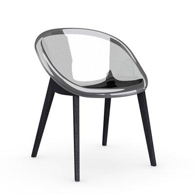 Bloom Slant Leg Chair Frame Finish: Graphite, Upholstery: Transparent