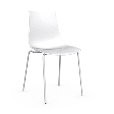 Ice Side Chair Upholstery: Glossy Optic White, Frame Finish: Matte Optic White
