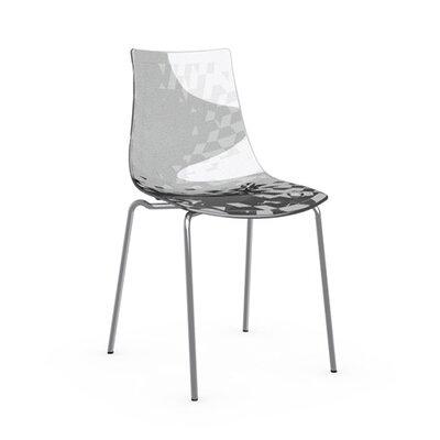 Ice Side Chair Frame Finish: Chromed, Upholstery: Transparent