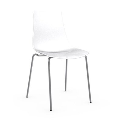 Ice Side Chair Upholstery: Transparent, Frame Finish: Satin Steel
