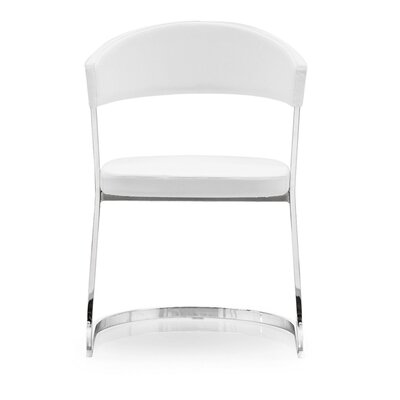 Bay Cantilever Chair Upholstery: Optic White