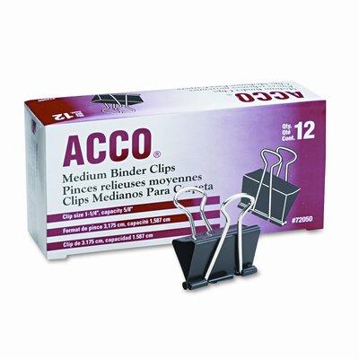 Medium Binder Clips, Steel Wire, 5/8 Capacity, 12/Pack (Set of 4)