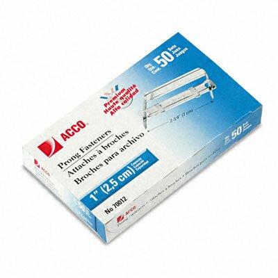Premium Two-Piece Paper File Fasteners, 1 Capacity, 50 per Box                                                               (Set of 2)