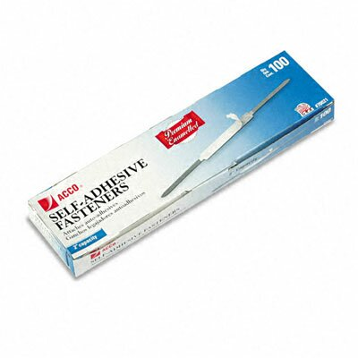 Premium Self-Adhesive Paper File Fasteners, 2 Capacity, 100/Box