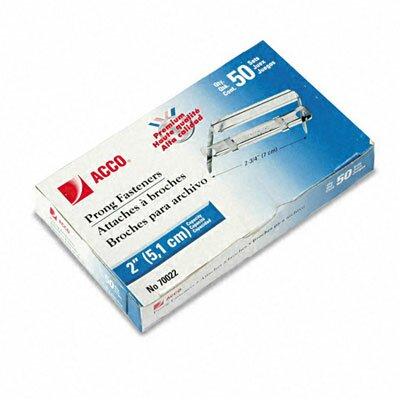 Premium 2-Piece Paper File Fasteners, 2 Capacity, 50/Box