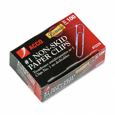 Nonskid Premium Paper Clips, 100/Box, 10 Boxes/Pack