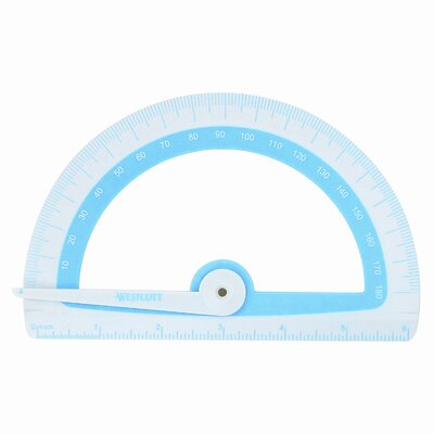 "Microban Soft Touch Antimicrobial Protractor, 6"", 180�, GN;BE;PK;OE, 1 EA                                                     (Set of 3) 14376"
