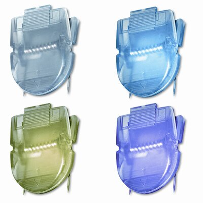 Fabric Panel Cubicle Wall Clips, Metallic Colors, 20 per Pack