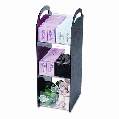 Vertiflex� Compact Condiment Organizer, 6 1/8w x 8d x 18h, Black VRTVFCT18