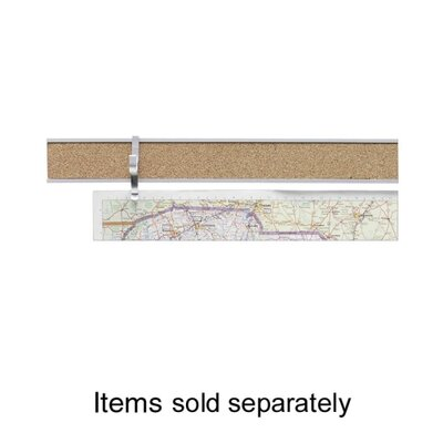 "ADVANTUS CORPORATION Map Rail, 1""x8', Satin Aluminum at Sears.com"