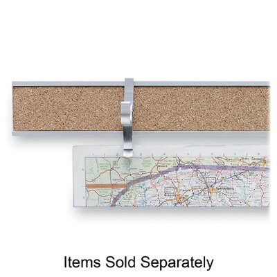 "ADVANTUS CORPORATION Map Rail, 2""x8', Satin Aluminum at Sears.com"