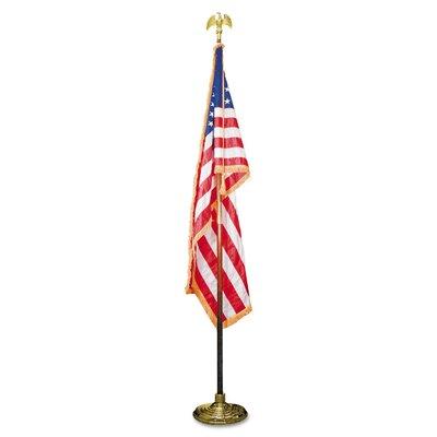 Indoor U.S. Flag and Flagpole Set