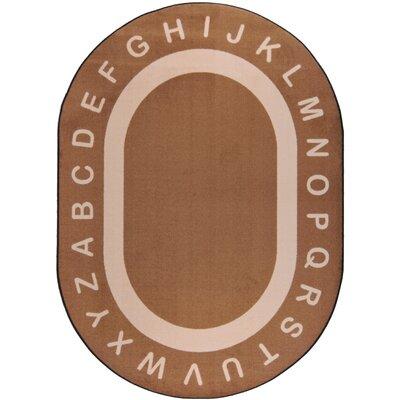 "Joy Carpets Endless Alphabet� Mocha Kids Rug - Rug Size: Oval 10'9"" x 13'2"" at Sears.com"