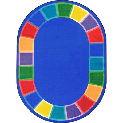 Kid Essentials Blue Indoor/Outdoor Area Rug Rug Size: Oval 78 x 109