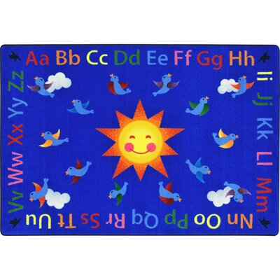 Kid Essentials Blue Area Rug Rug Size: Rectangle 78 x 109