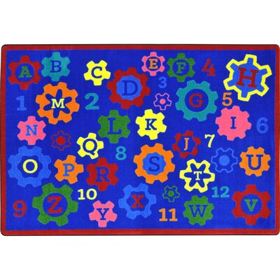 Kid Essentials Blue Indoor/Outdoor Area Rug Rug Size: 54 x 78
