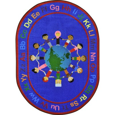 Kid Essentials A World of Friends Area Rug Rug Size: Oval 54 x 78