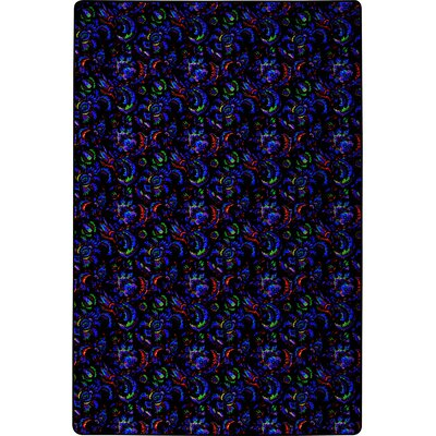 Black/Blue/Green Area Rug Rug Size: Square 6