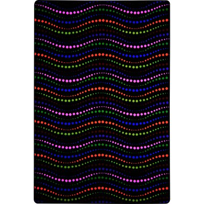 Black/Red/Pink Area Rug Rug Size: Rectangle 6 x 12