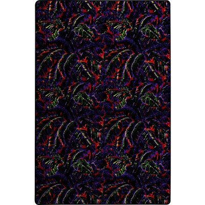 Green/Blue/Red Area Rug Rug Size: 8 x 12