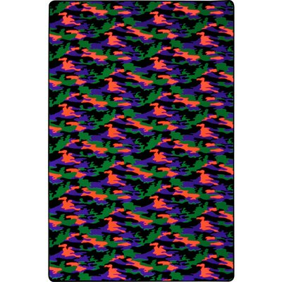 Green/Orange/Purple Area Rug Rug Size: 6 x 12