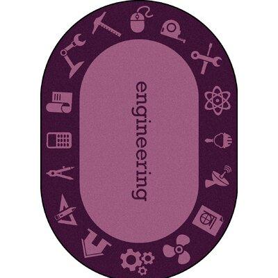 Steam Purple Area Rug Rug Size: Oval 109 x 132