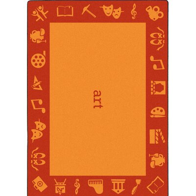Steam Orange Area Rug Rug Size: Rectangle 109 x 132