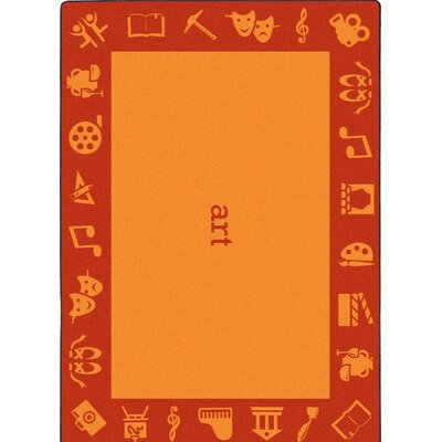 Steam Orange Area Rug Rug Size: 54 x 78