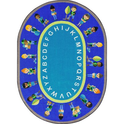 Environmental Helpers Blue/Aqua Area Rug Rug Size: Oval 54 x 78