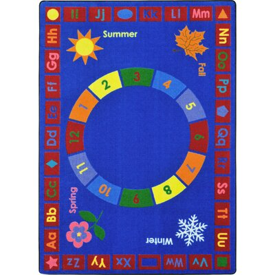 Learning Time Blue Area Rug Rug Size: 109 x 132