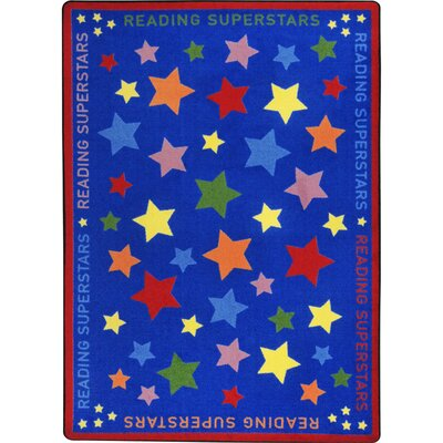 Reading Superstars Blue Area Rug