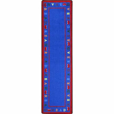 Scattered Books Blue Area Rug Rug Size: 54 x 78