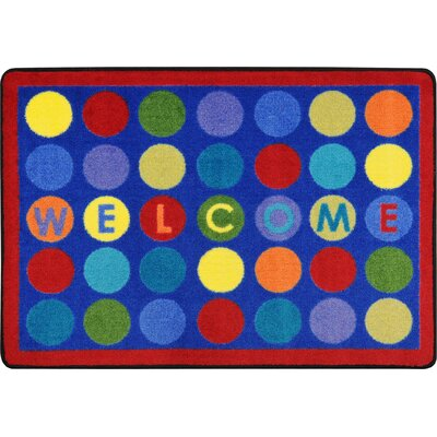 Library Dots Blue Area Rug Rug Size: 28 x 3 10