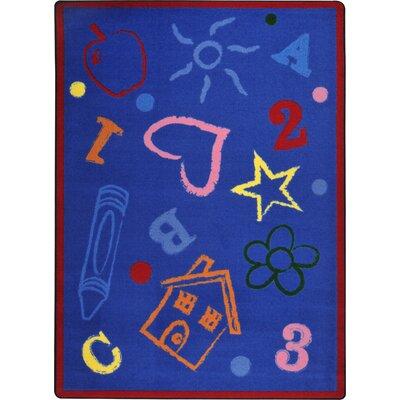 "Joy Carpets Playful Patterns Rainbow Kid's Art Kids Rug - Rug Size: 10'9"" x 13'2"" at Sears.com"