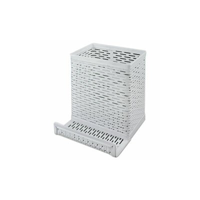 Urban Punched Pencil Cup and Cell Phone Stand ART20014WH
