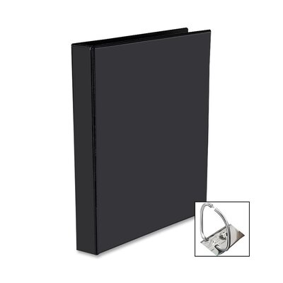 Nonstick Heavy-Duty EZD Reference View Binder, 1in Capacity, Black
