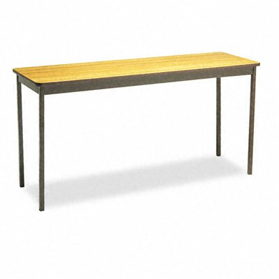 Barricks Utility Training Table Size: 30H x 60W x 18D, Tabletop Finish: Oak/Brown