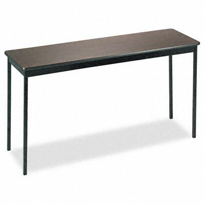 Barricks Utility Training Table Size: 30H x 60W x 18D, Tabletop Finish: Walnut/Black