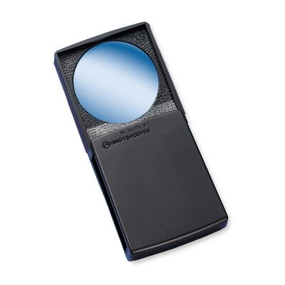 """Round Magnifier With Cover, 5x, 2"""", Black Frame"""