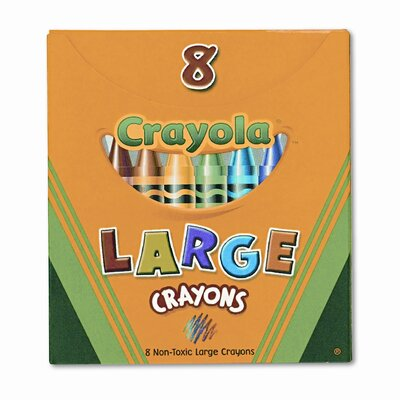 Large Tuck Box Crayons (8/Box) 520080