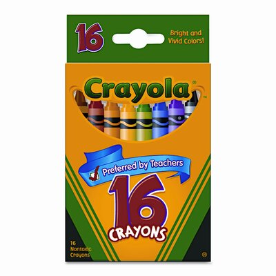 Classic Colour Pack Crayons (16/Box) (Set of 4) 523016