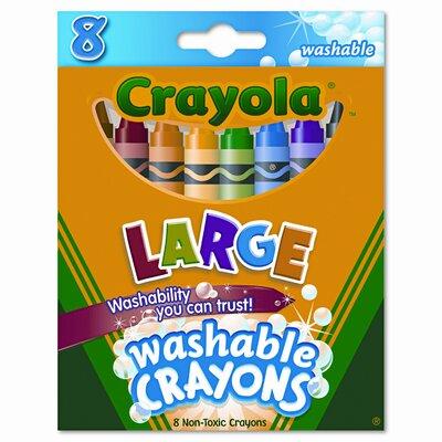 Large Washable Crayons (8/Box) CYO523280