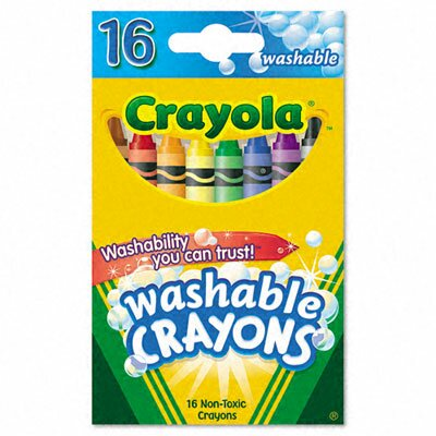Washable Regular Crayons (16/Box) (Set of 3) BIN526916