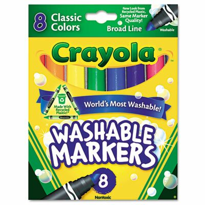Washable Broad Point Markers (8/Pack) (Set of 2) 587808