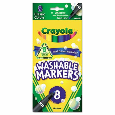 Washable Fine Point Markers (8/Pack) (Set of 2) 587809
