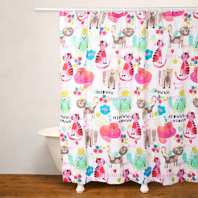 Purrty Cat Shower Curtain