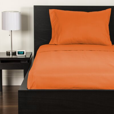 Sheet Set Size: Twin, Color: Outrageous Orange