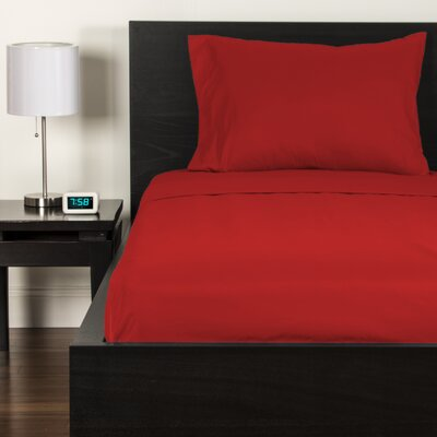 Sheet Set Size: Twin, Color: Scarlet